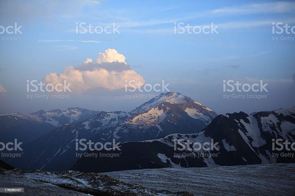 Noori Top Pass, Northern Areas Pakistan 14000 feet stock photo