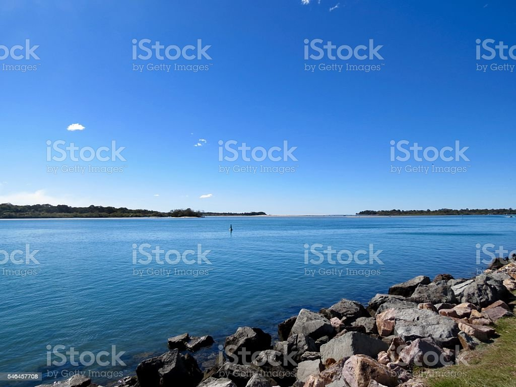 Noosa Heads, Noosa River Australia stock photo