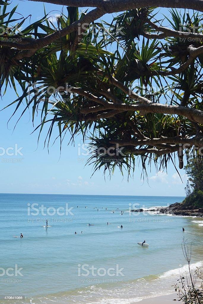Noosa Main Beach, Australia stock photo