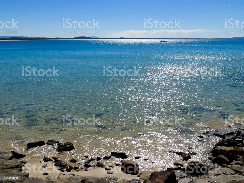 Noosa National Park, Sail boat stock photo