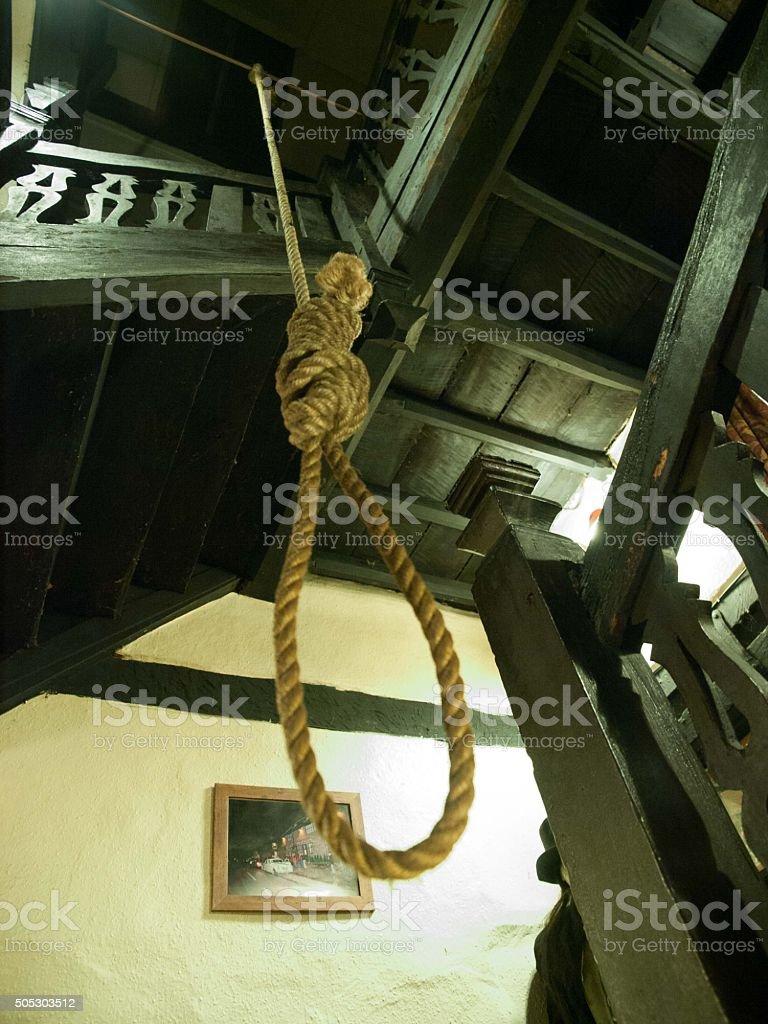 Noose at Skirrid Inn stock photo