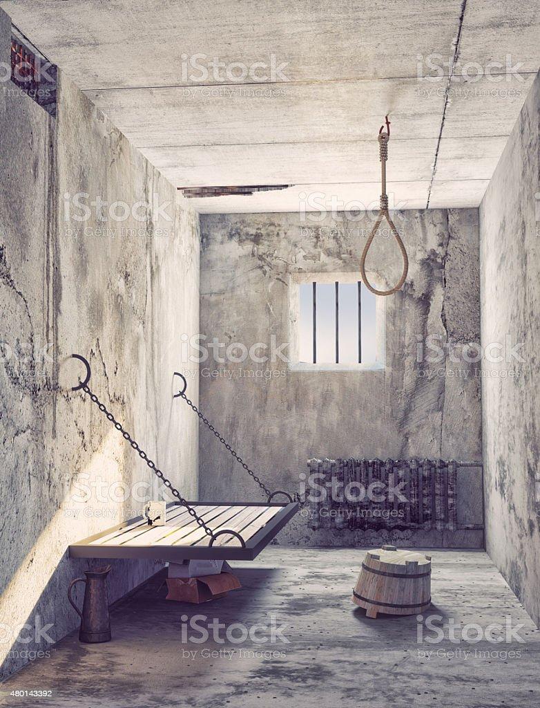 noose in the prison stock photo