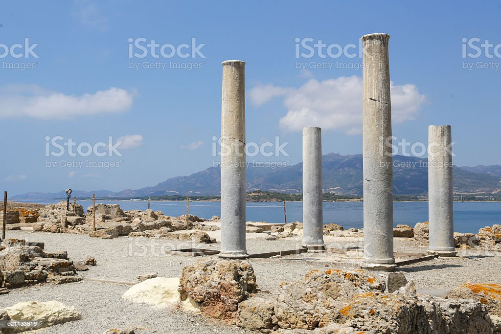 Nora Ruins Sardinia stock photo