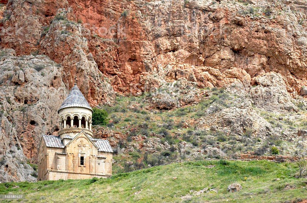 Noravank monastery in high mountains royalty-free stock photo