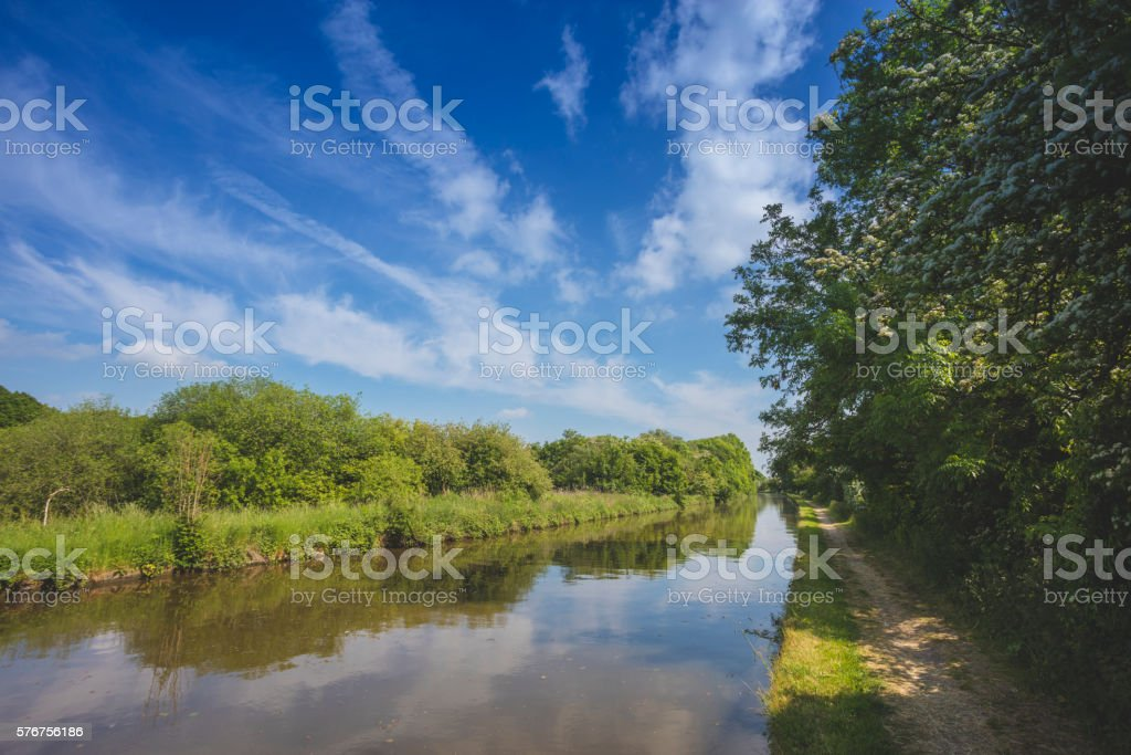 Norbury Junction Canal stock photo