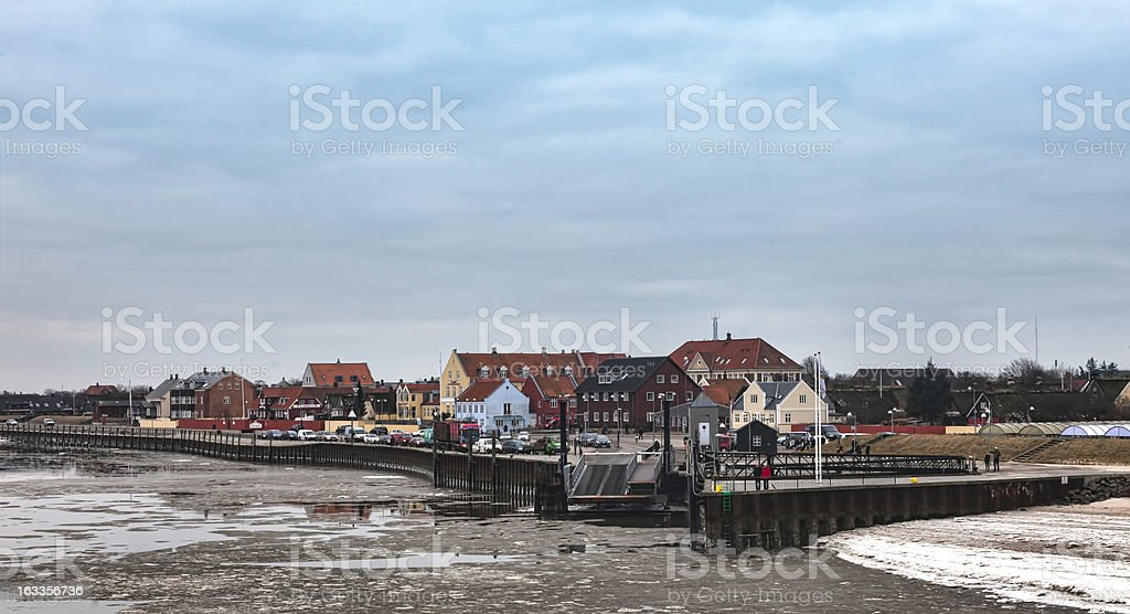 Nordby on the danish island fano royalty-free stock photo