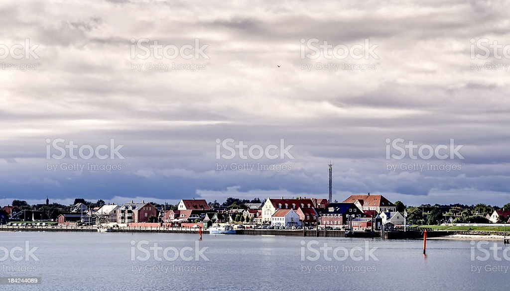 Nordby on the danish island fano stock photo
