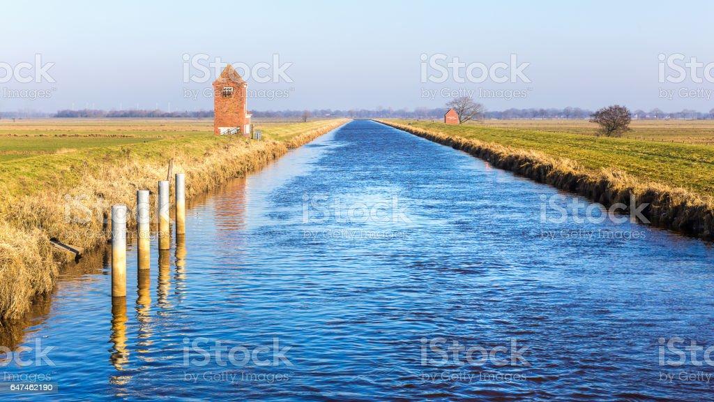 Nordgeorgsfehnkanal near Stickhausen stock photo