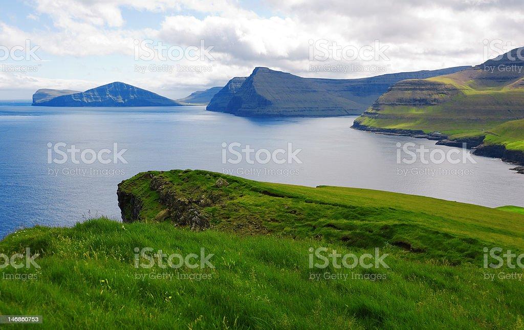 nordic bay Faeroe Islands stock photo