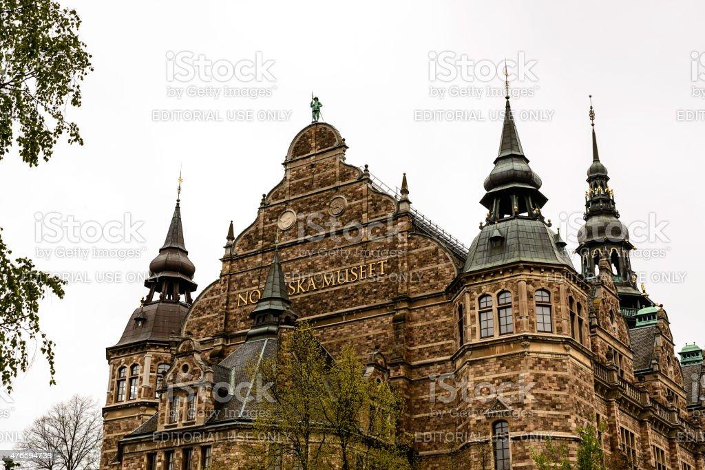 Nordic Museum (Nodiska Museet) Stockholm stock photo
