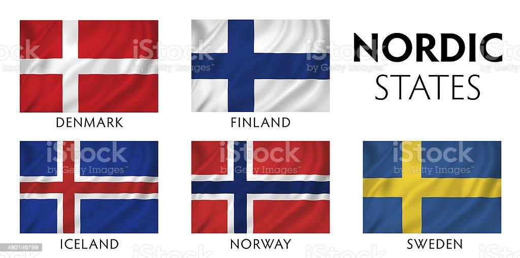 Nordic Scandinavian Countries royalty-free stock photo