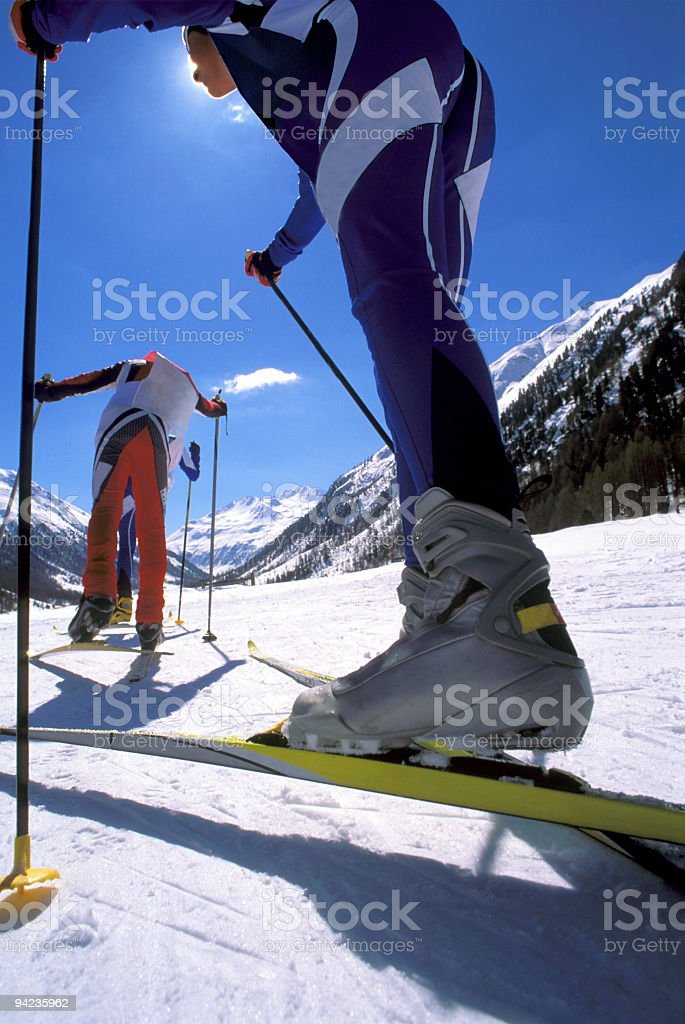 Nordic Skiing royalty-free stock photo