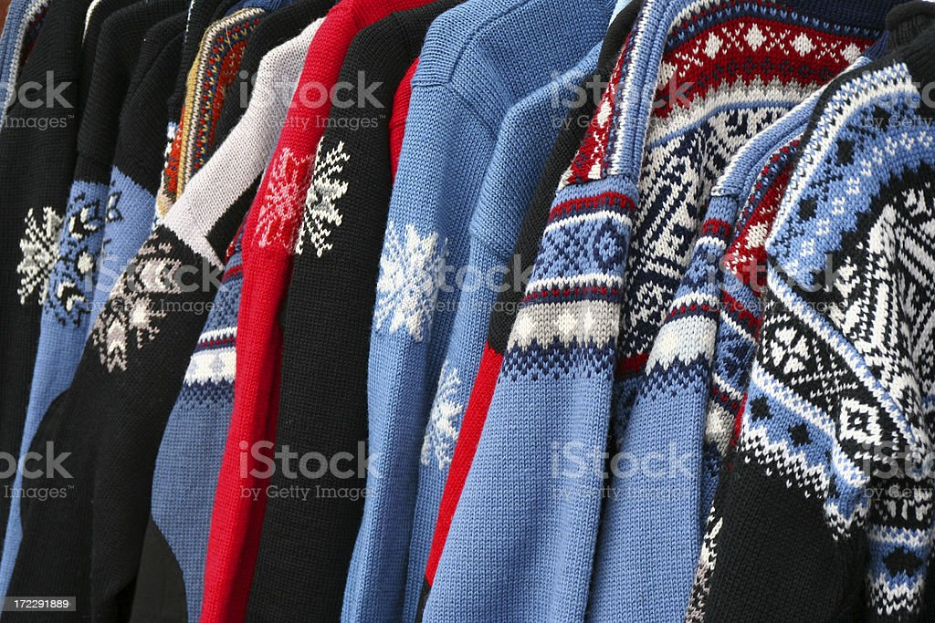 Nordic sweaters royalty-free stock photo