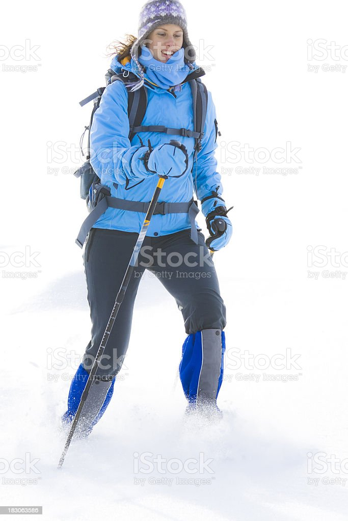 nordic trekking royalty-free stock photo