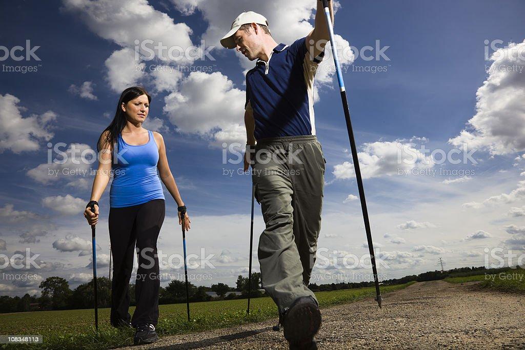 Nordic Walking Instruction royalty-free stock photo