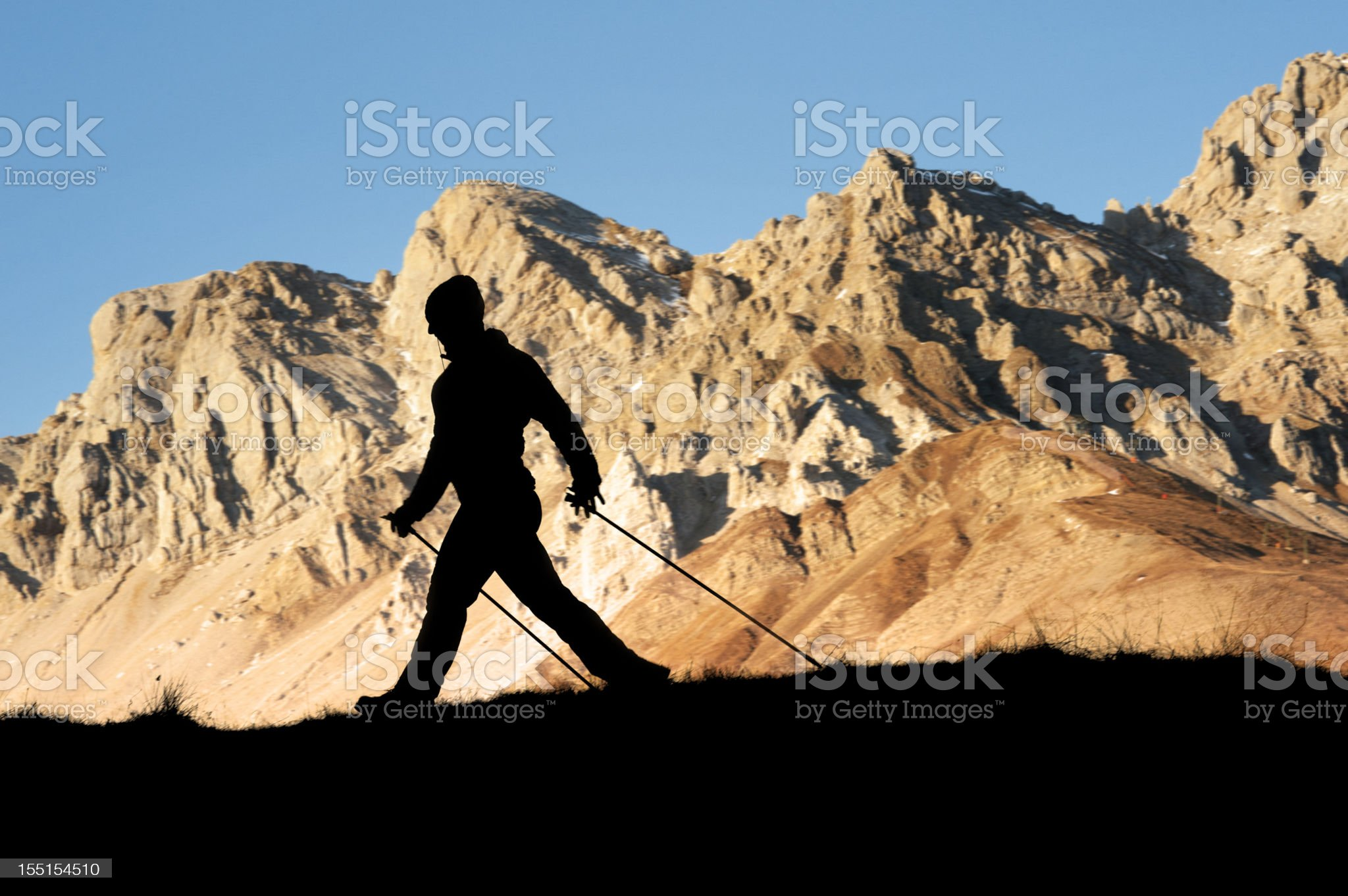 Nordic walking royalty-free stock photo