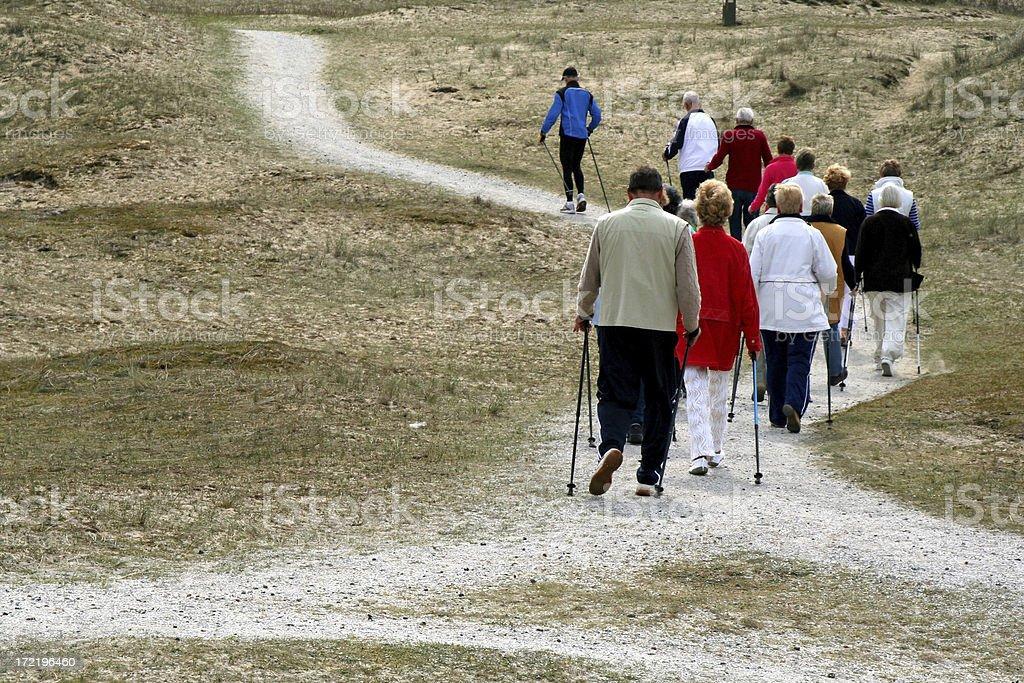 Nordic walking # 5 royalty-free stock photo