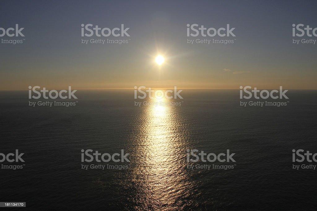 Nordkapp Midnight sun royalty-free stock photo