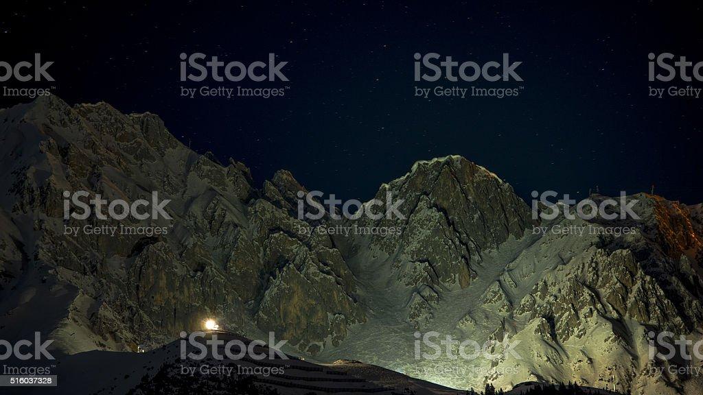 Nordkette, Innsbruck, night stock photo