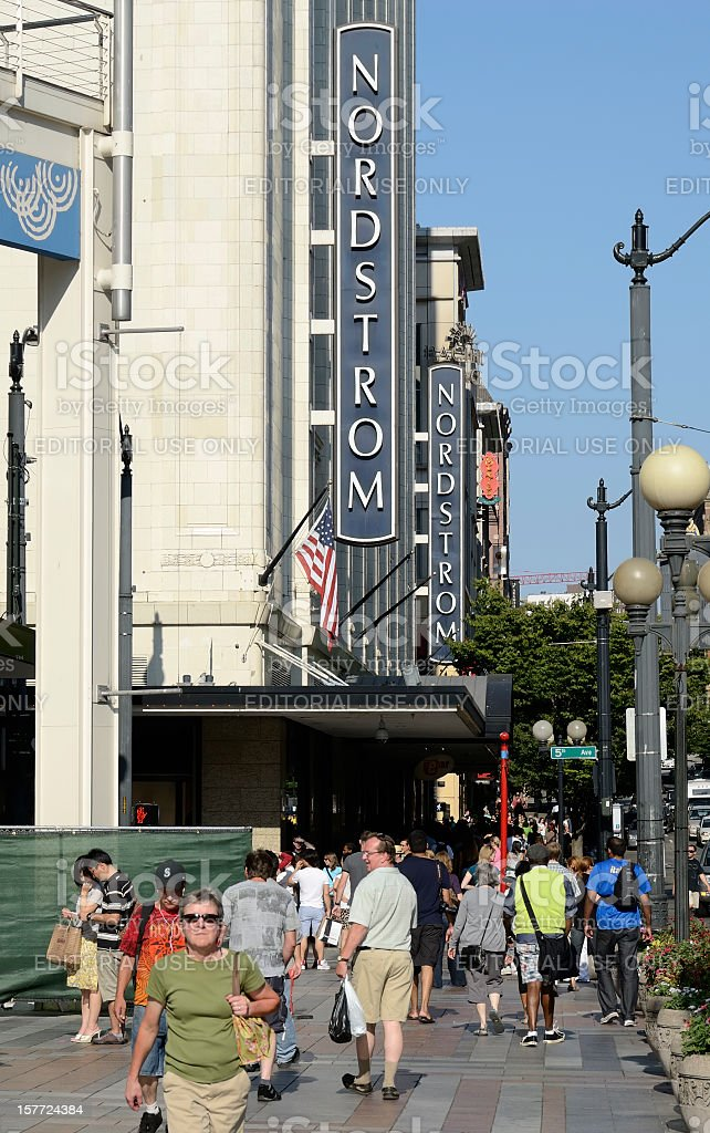 Nordstrom Flagship Store, Seattle stock photo