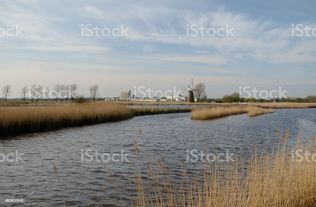 Norfolk Broads Spring walk stock photo
