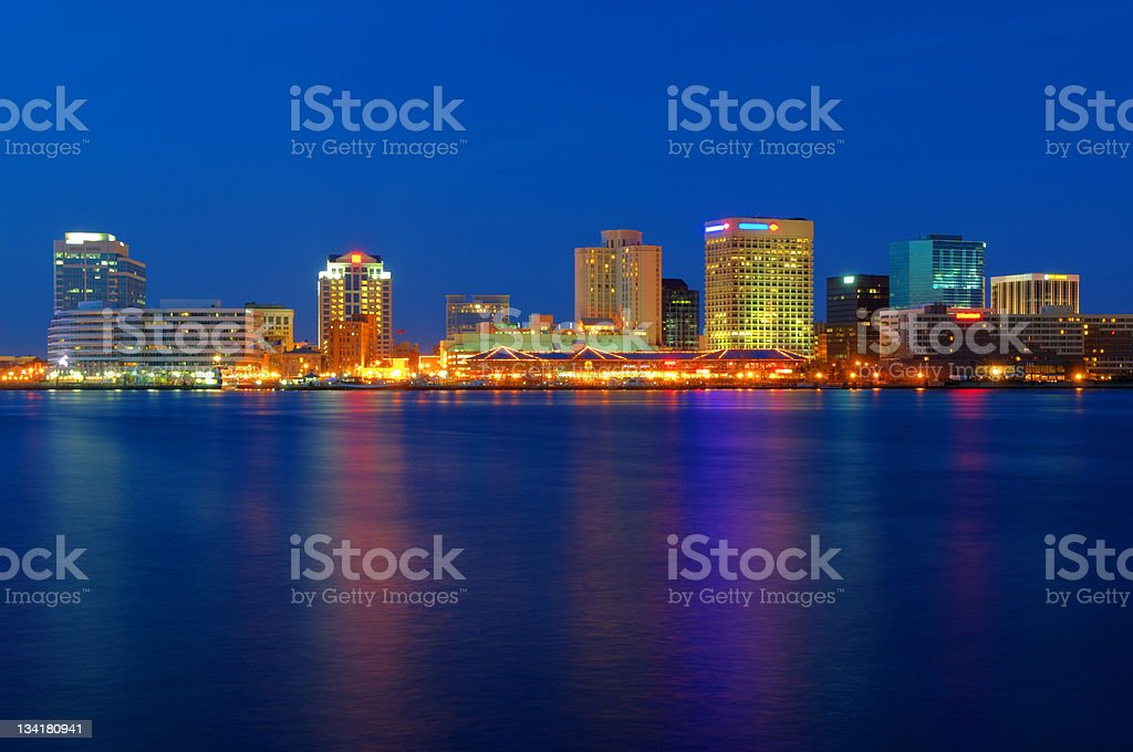 Norfolk Cityscape / Skyline stock photo