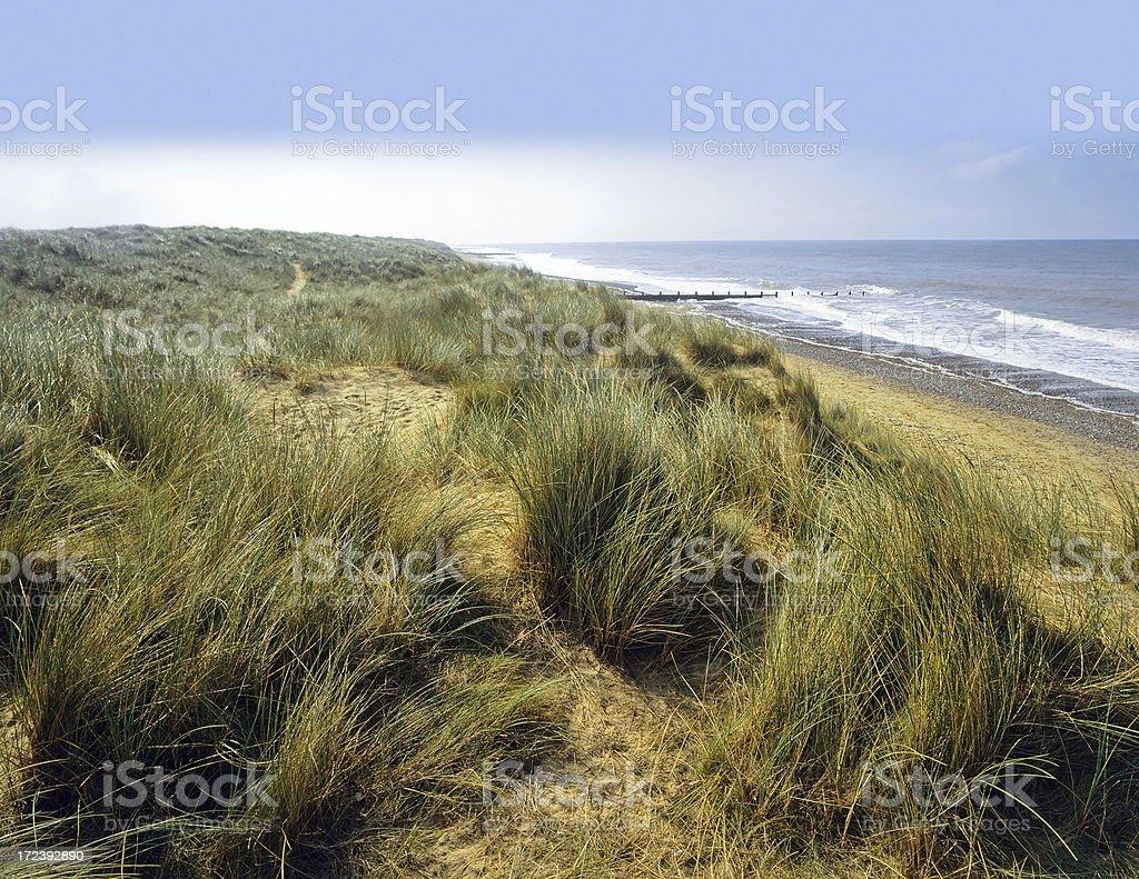norfolk coast stock photo