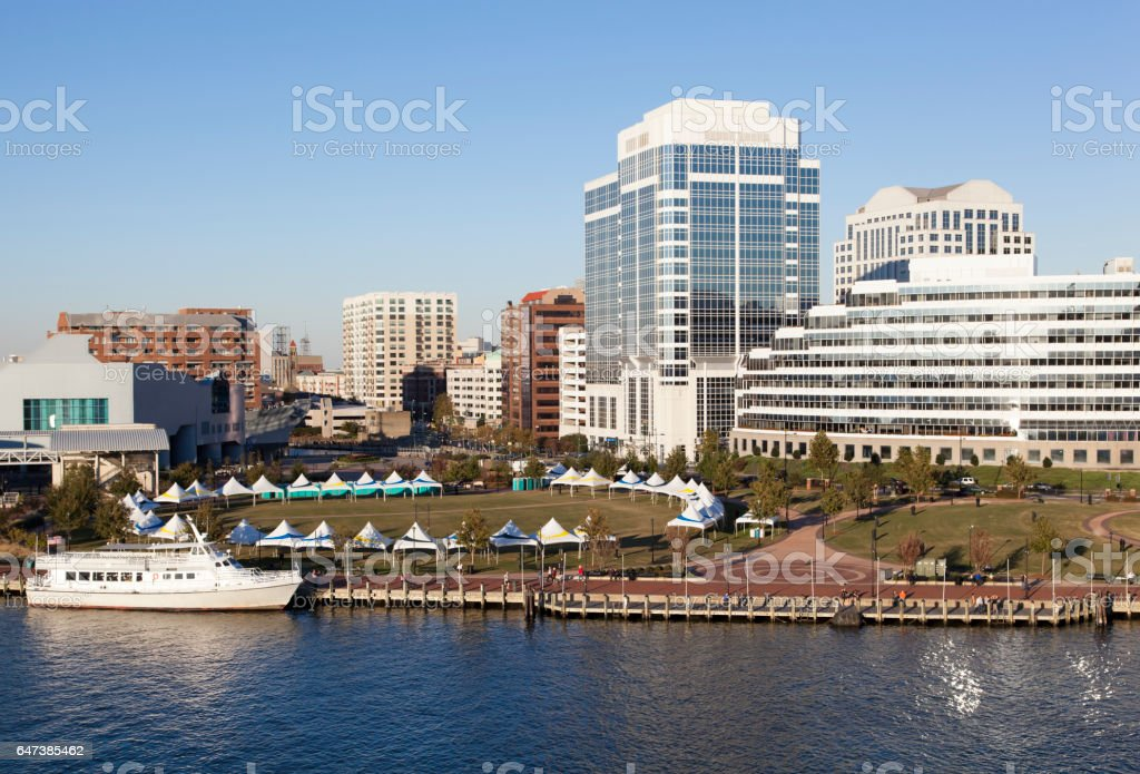 Norfolk Downtown stock photo