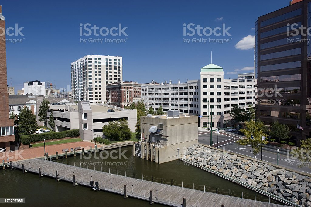 Norfolk Harbor royalty-free stock photo