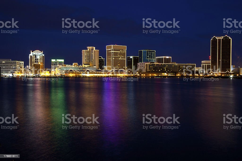 Norfolk Skyline stock photo
