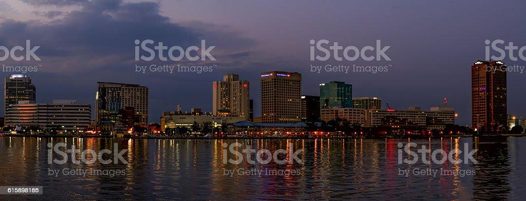 Norfolk, VA Skyline Pano stock photo