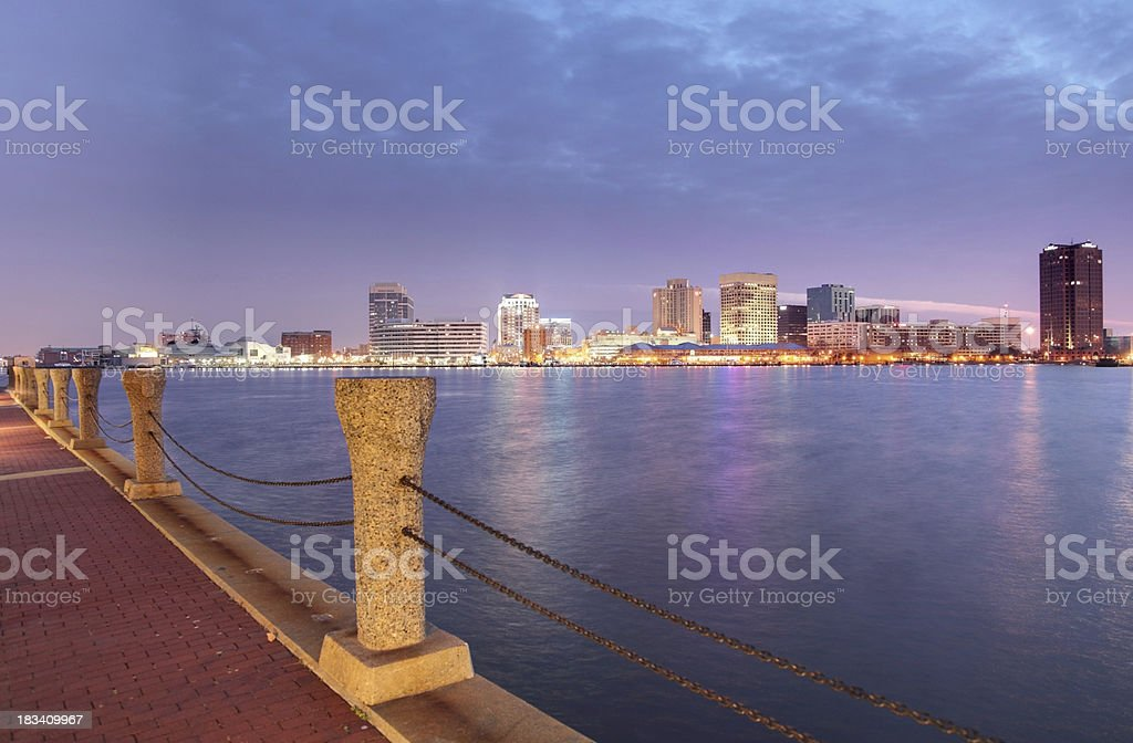 Norfolk Virginia Skyline stock photo