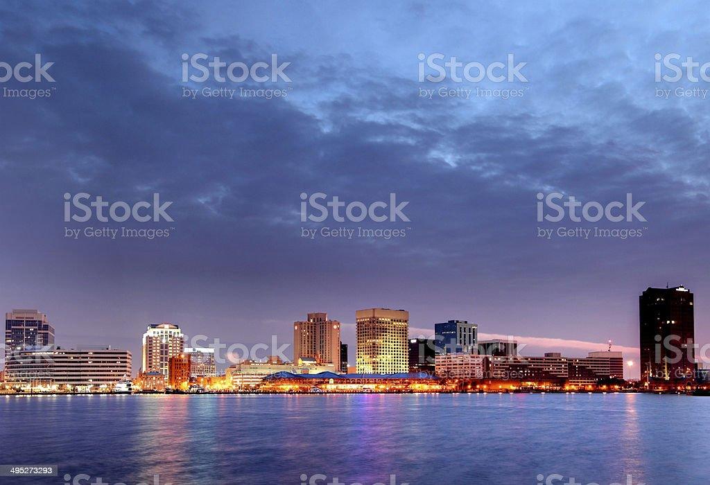 Norfolk, Virginia Skyline stock photo