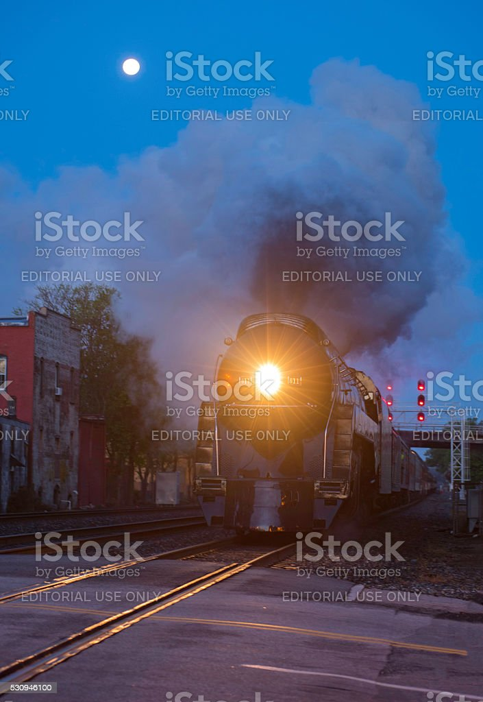 Norfolk & Western 611 Coming Into Greensboro, N.C. At Elm Street stock photo