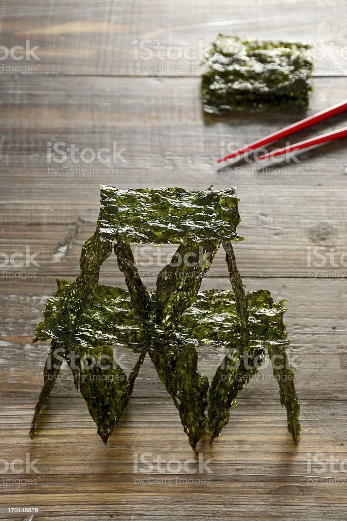 Nori House of Cards royalty-free stock photo