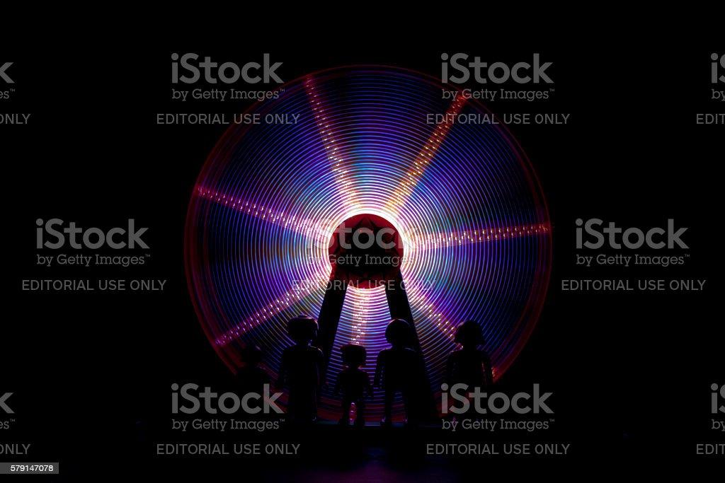 Noria lights abstract stock photo