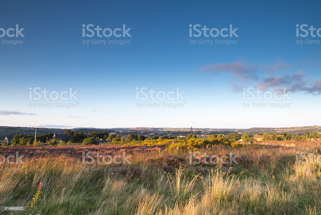 Norland sunset stock photo