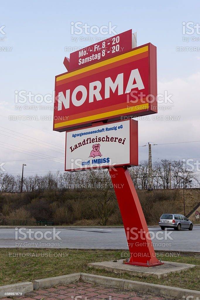 Norma corporate advertising royalty-free stock photo