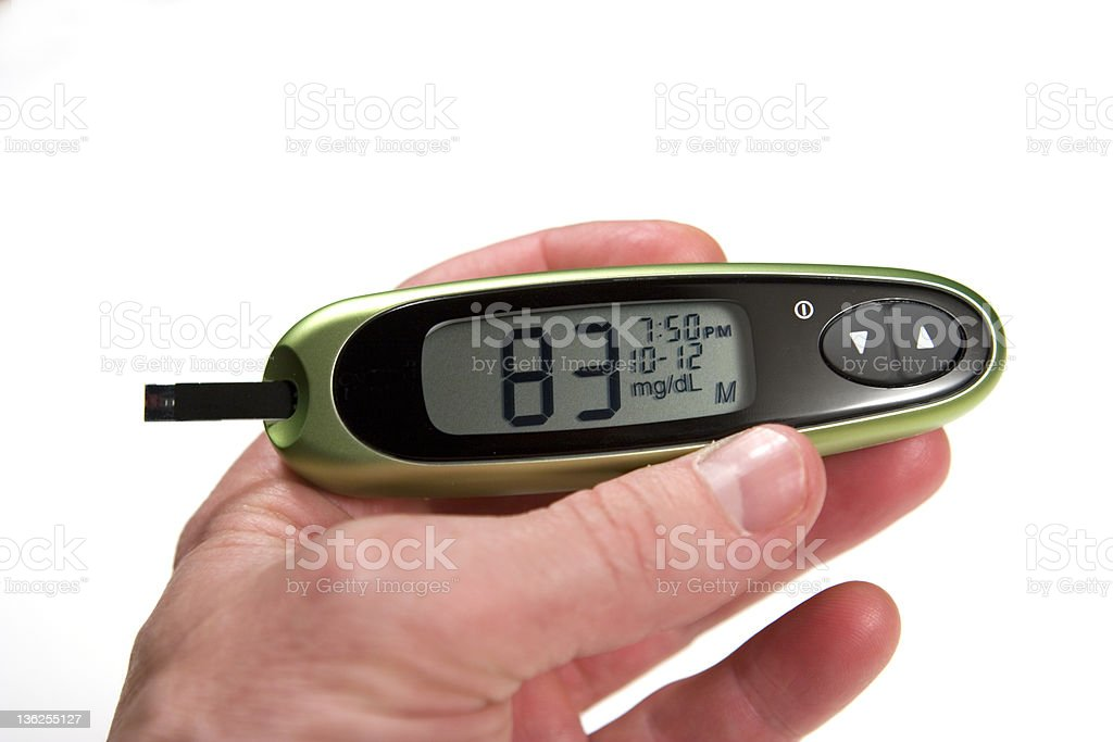 Normal Level Glucose Monitor royalty-free stock photo