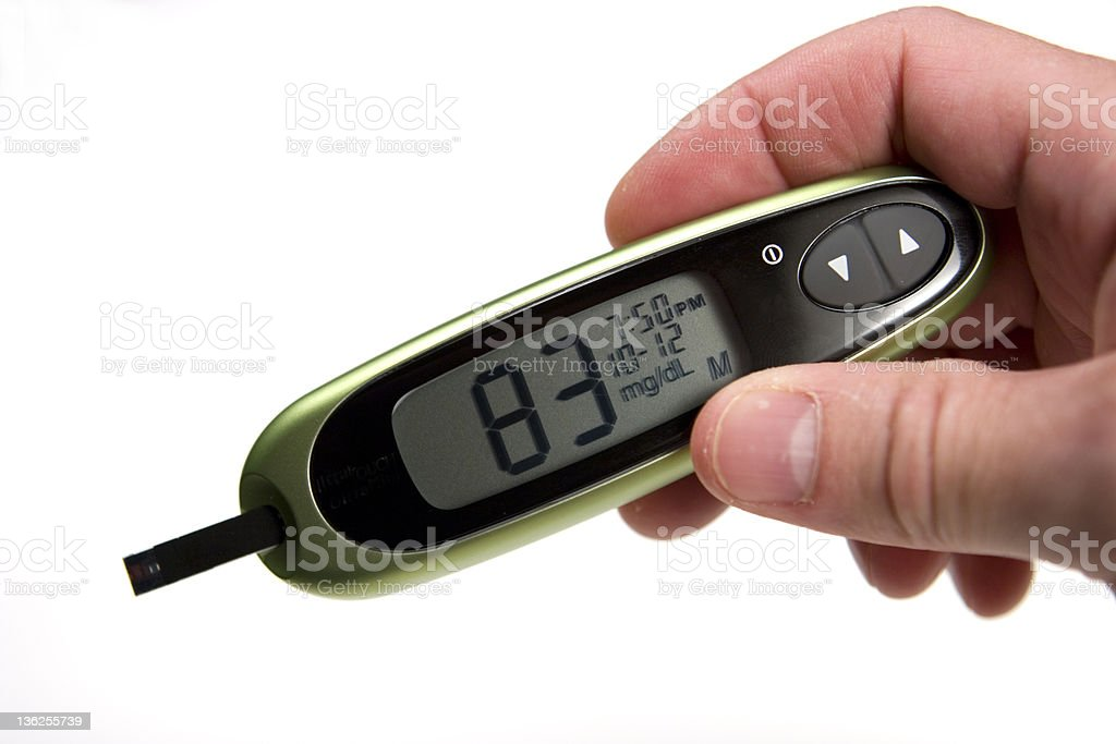 Normal Level Glucose Monitor stock photo