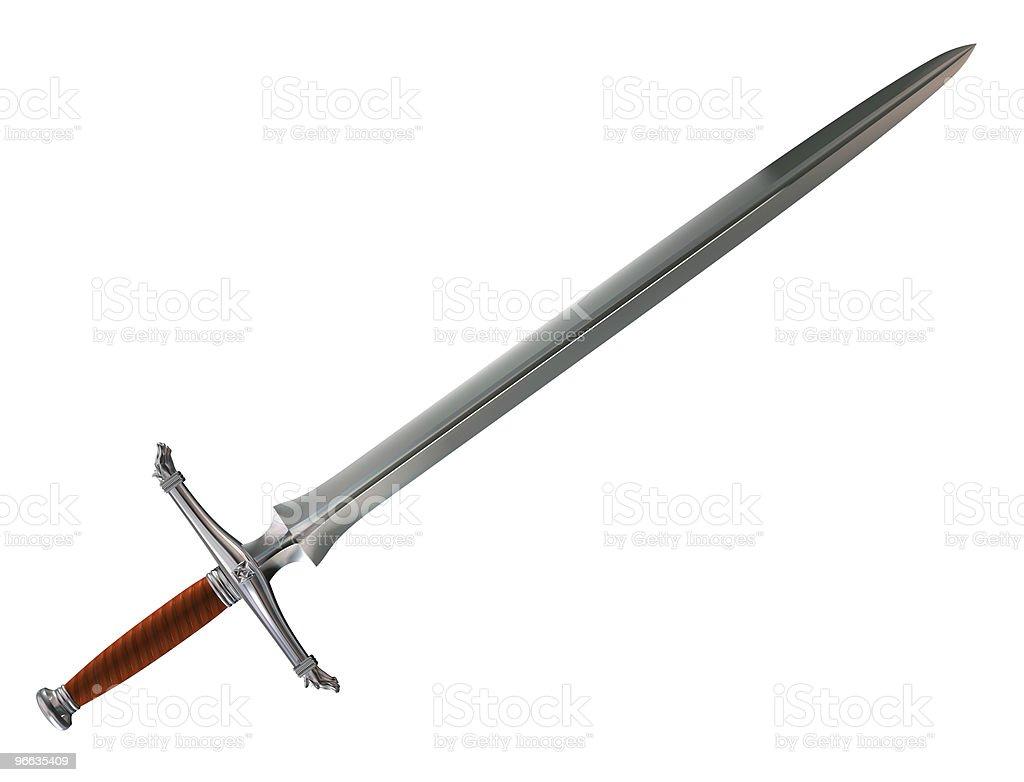 Norman battle sword stock photo