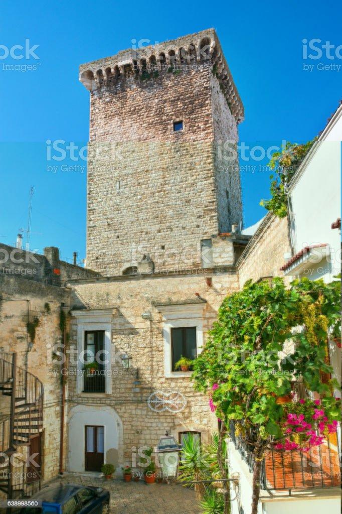 Norman castle. Rutigliano. Puglia. Italy. stock photo