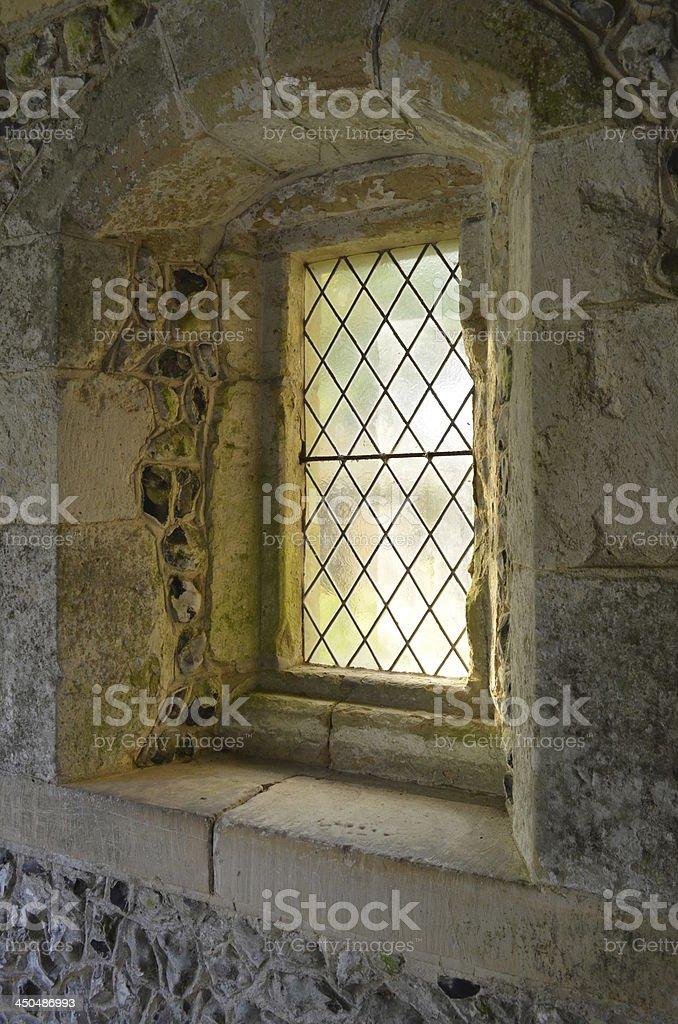 Norman church window royalty-free stock photo