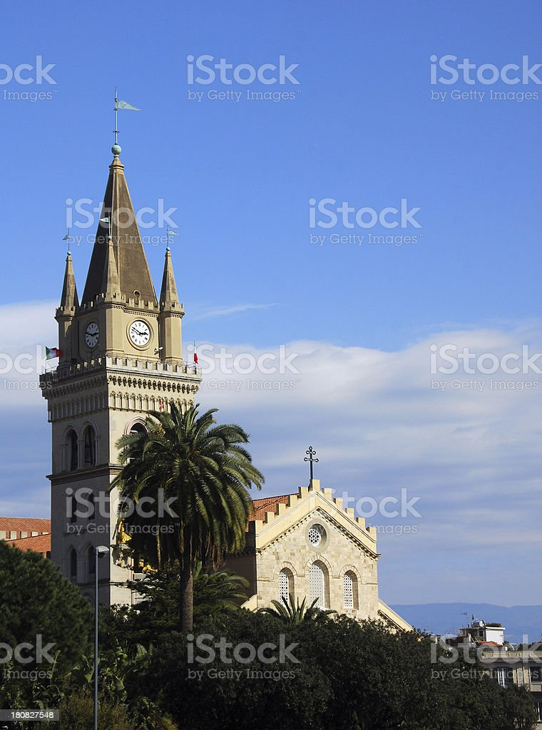 Norman Clock Tower - Messina, Italy stock photo