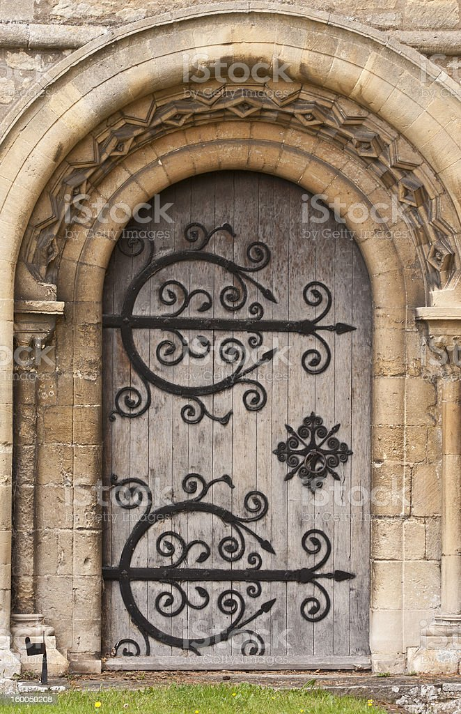 Norman door royalty-free stock photo