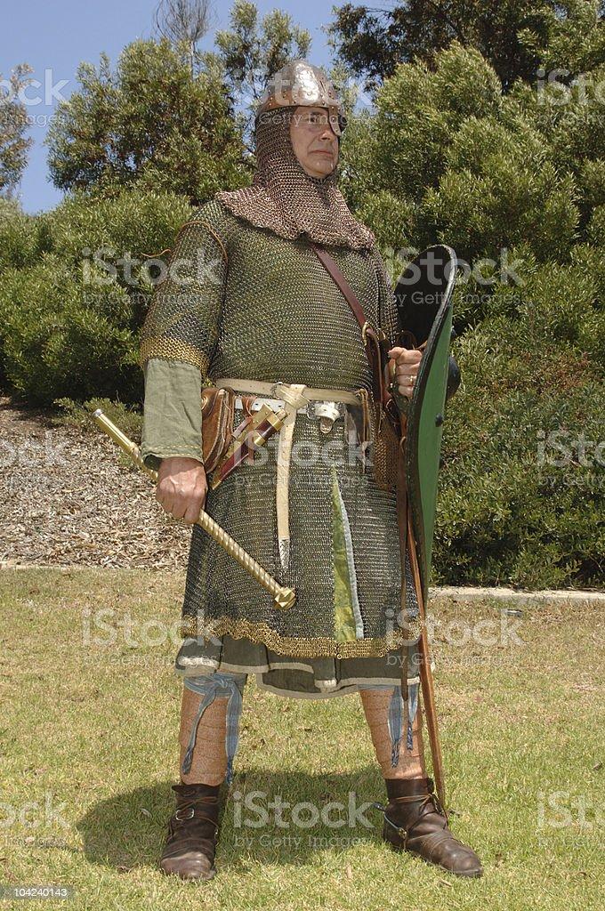 Norman knight stock photo