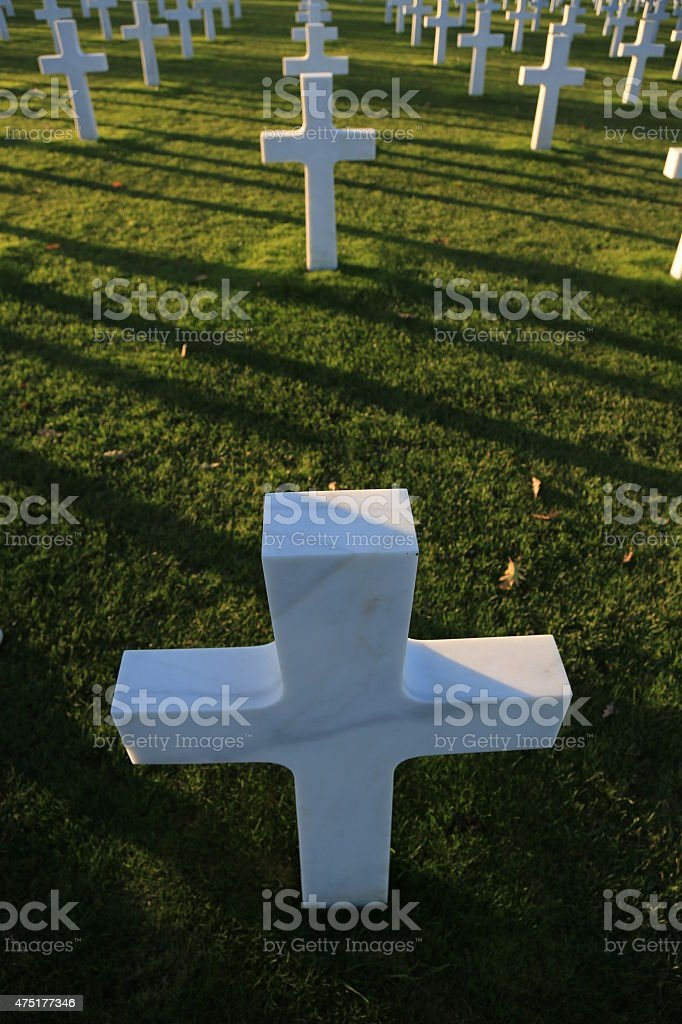 Normandy american cemetery stock photo