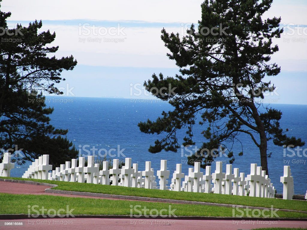 Normandy American Cemetery stock photo