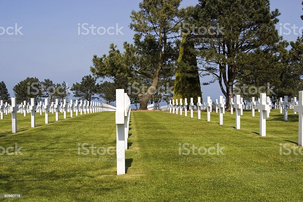 Normandy American Cemetery royalty-free stock photo