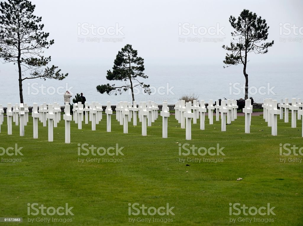 Normandy American Cemetery,Colleville-sur-Mer royalty-free stock photo